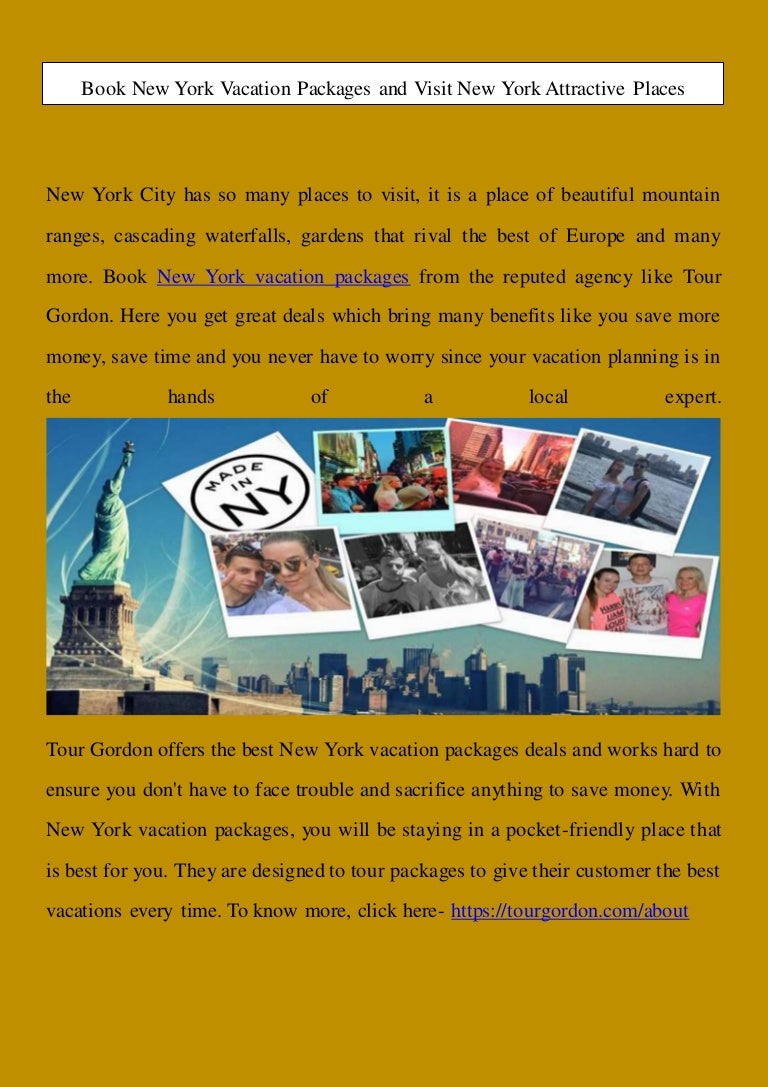 Book New York Vacation Packages And Visit New York Attractive Places