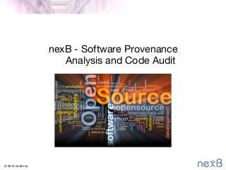 nexb-softwareauditforproductrelease-1210