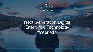 Next Generation Digital Enterprise (Workplace) Technology - Enterprise Digital Arena 2017 - Keynote by Dion Hinchcliffe