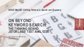 On Beyond Keyword Search: The Thinking Behind JSTOR Labs' Text Analyzer - NFAIS Webinar 2017