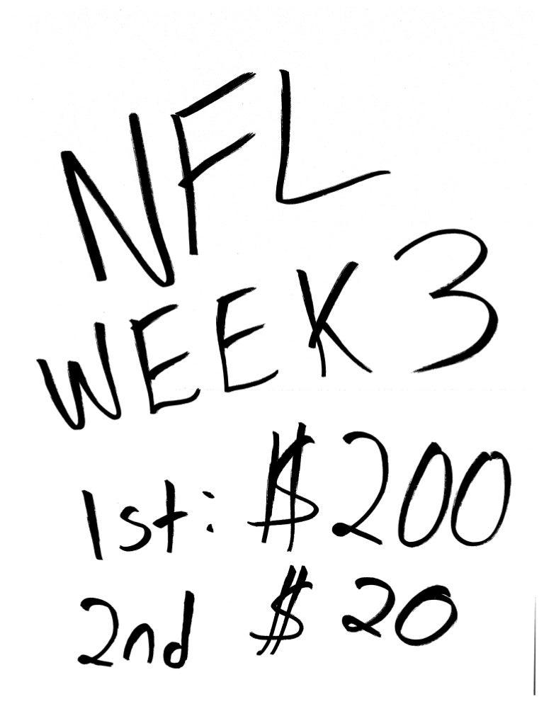 Nfl Week 3 All Picks