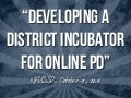 Developing a District Incubator for PD - NFUSSD 2014