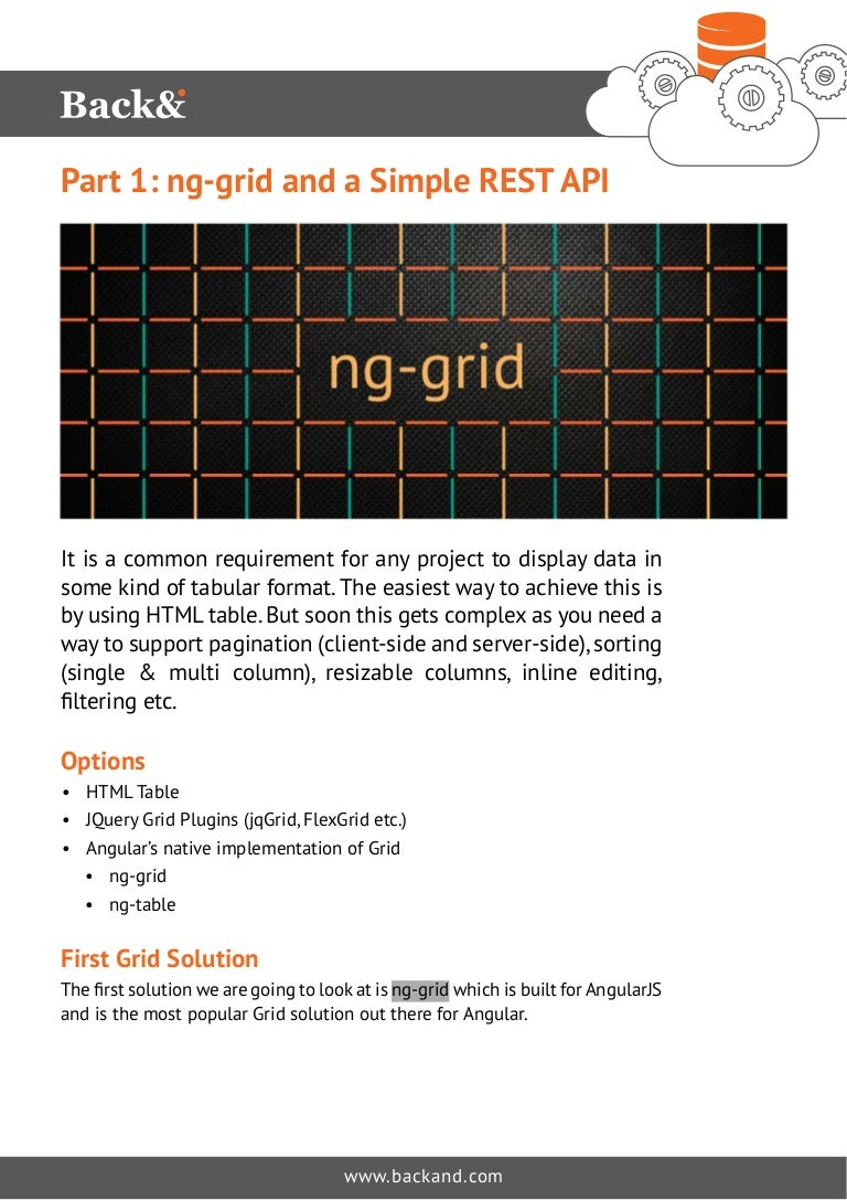 ng-grid and a Simple REST API