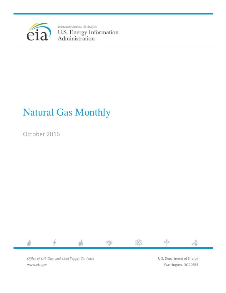 Eia Natural Gas Monthly Report October 2016