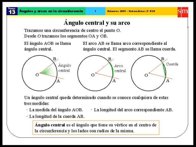 8ec730b71 áNgulo central y su arco