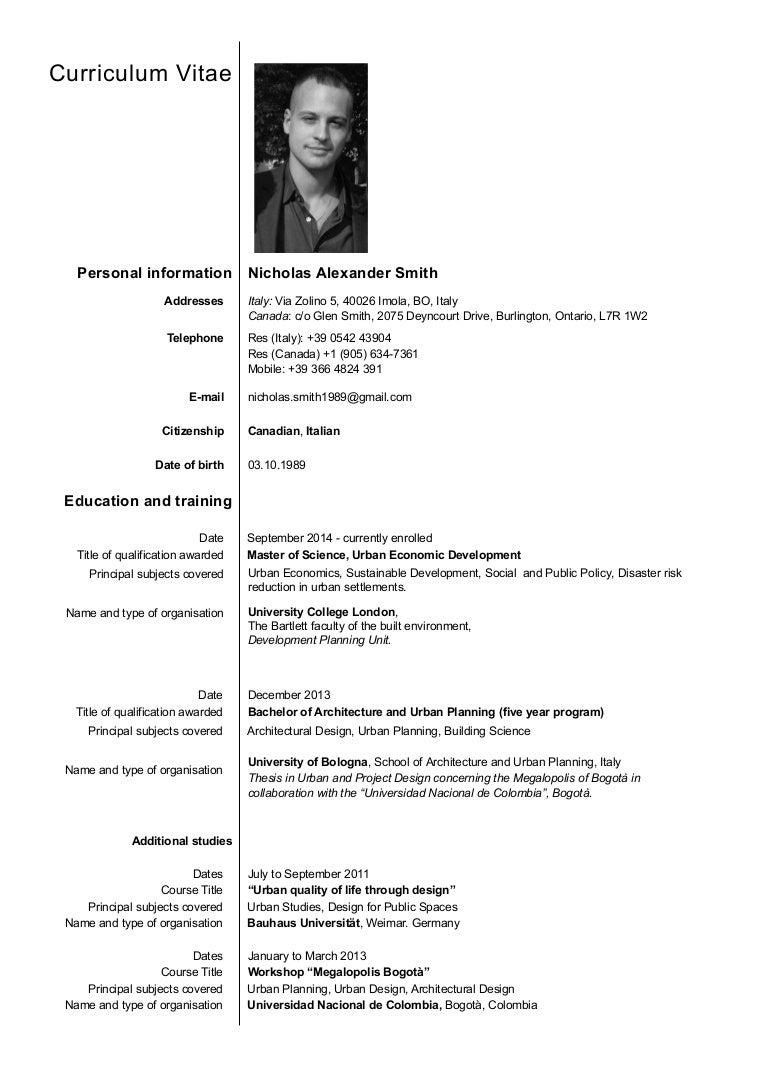 nicholas smith resume
