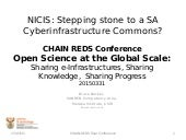NICIS: Stepping Stones to a Cyberinfrastructure Commons