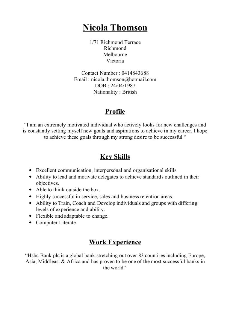 resume set out