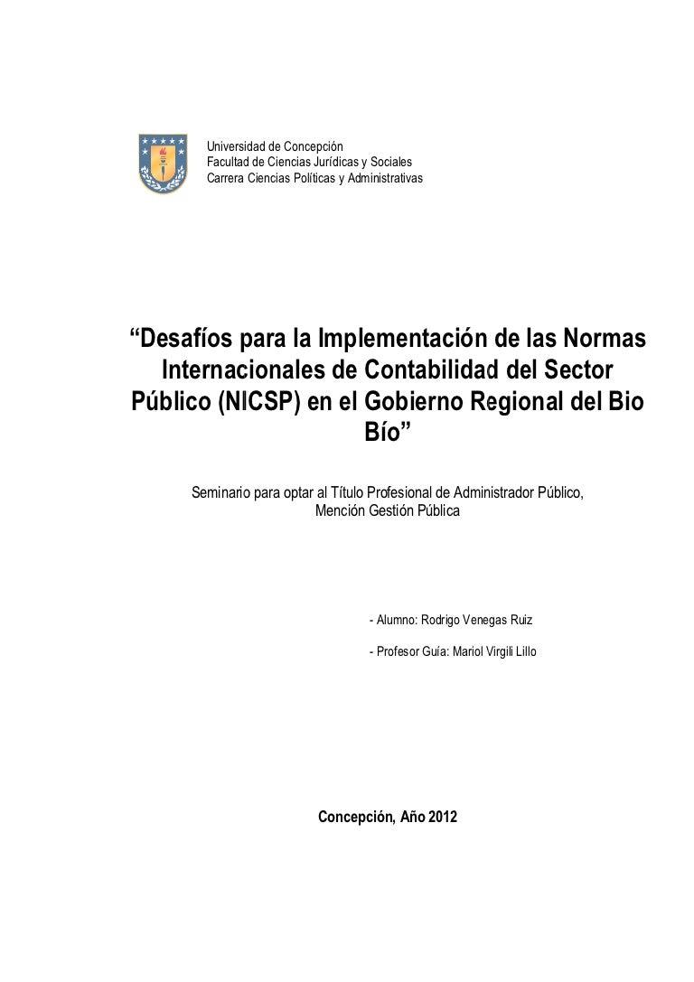 Tesis NICSP Normas Internacionales de Contabilidad para el Sector Pub…