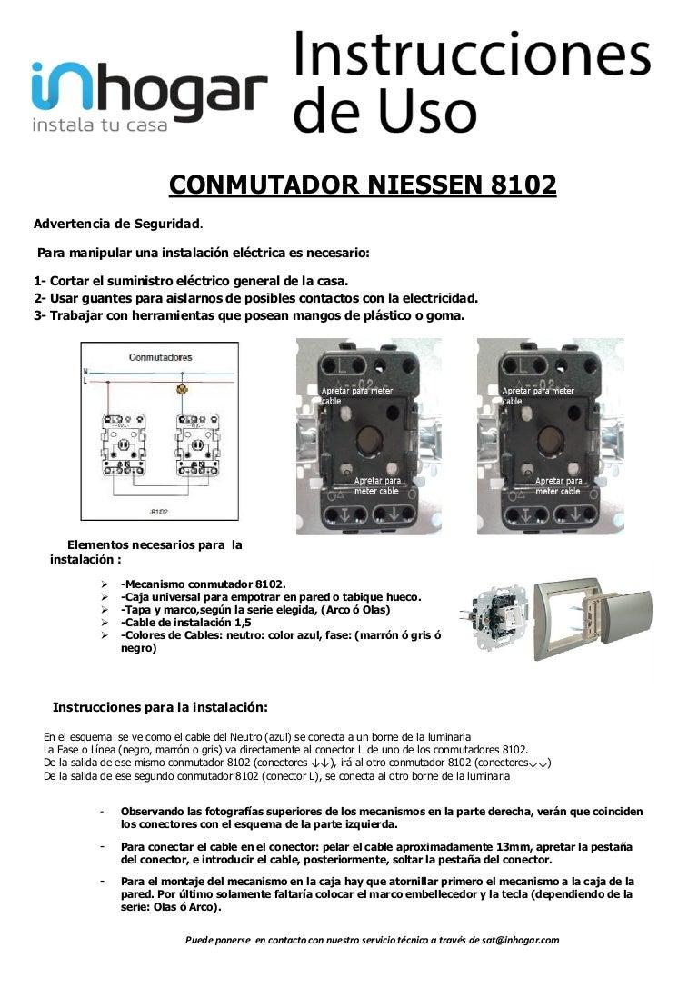 Mecanismo conmutador 8102 Niessen