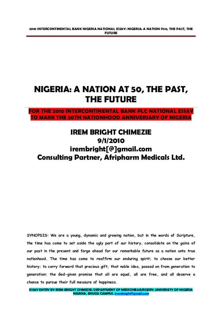 ia at essay by irem bright chimezie