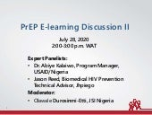 PrEP Learning Discussion II