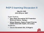 PrEP E-Learning Discussion 2