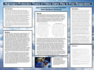 Nightmare protection thesis of video game play in first responders poster 2013 iasd