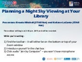 Planning a Night Sky Viewing at Your Library