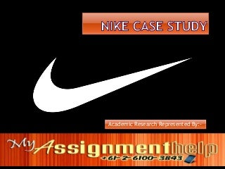 Nike Swot Analysis - Nike Pest Analysis - Nike Case Study Assignment for Students
