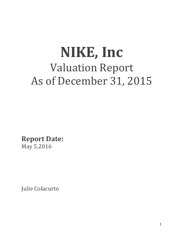 Nike Valuation Report