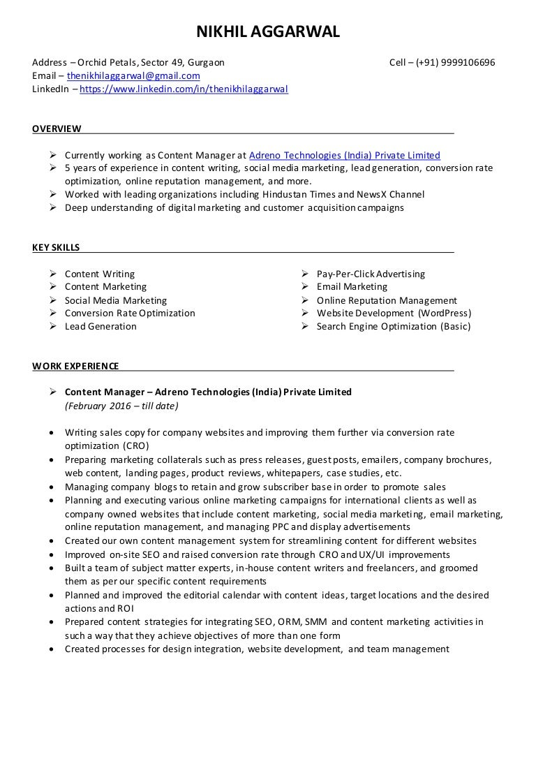 Content Writer Resume India 847 Best Images About Resume Samples