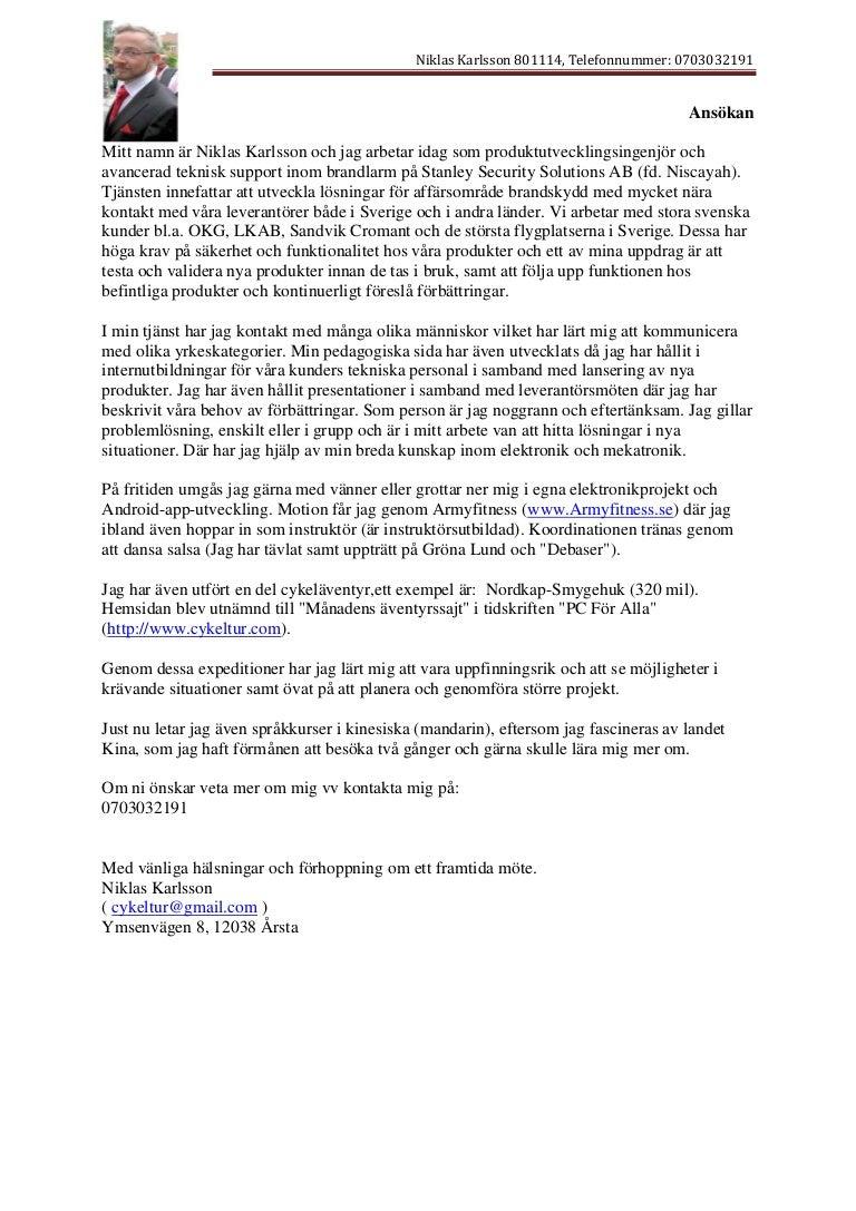 niklas karlsson 801114 personligt brev 2016