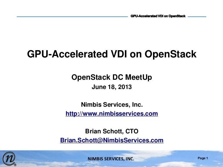 GPU Accelerated Virtual Desktop Infrastructure (VDI) on