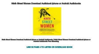 Ninth Street Women Download Audiobook iphone or Android Audiobooks