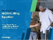 NIOSH Lifting Equation Slides