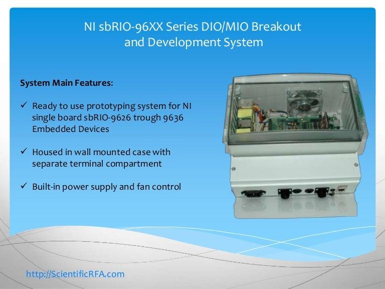 NI sbRIO-96XX Series DIO/MIO Breakout and Development System