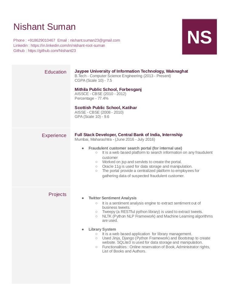 Nishant resume
