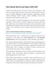 Nisin Market Data Survey Report 2019-2027