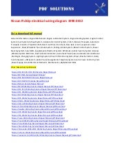 Nissan Pick Up Electrical Wiring Diagram 1990 2012