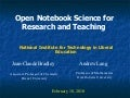 NITLE Open Notebook Science Talk