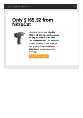 Nitrocat offer the best 1200k 12inch kevlar composite air impact wrench with twin clutch mechanism only 16552 reviews
