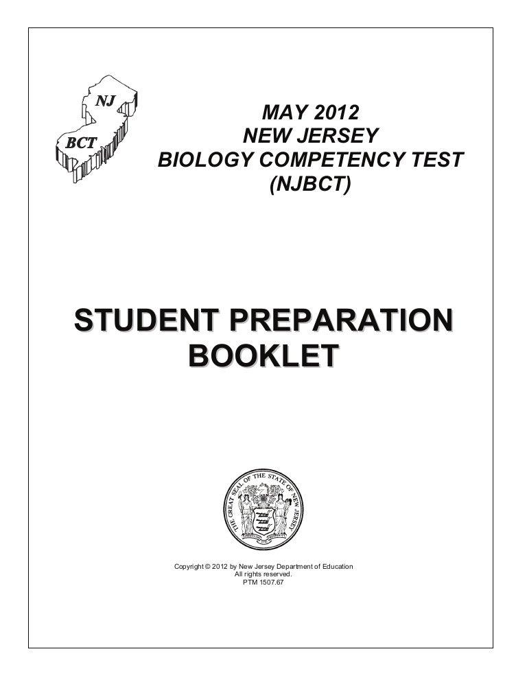 Biology Exam Student Preparation Booklet