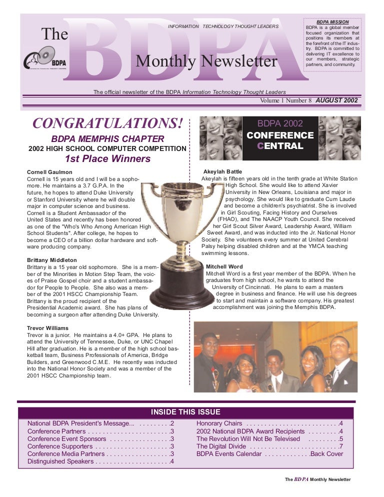 Newsletter: National BDPA (Aug 2002)
