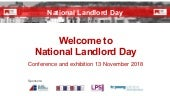 National Landlord Day 2018 - Biosphere slides