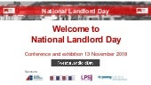 National Landlord Day - Showdome and Salisbury Suite 2018