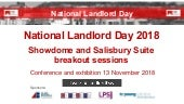 National Landlord Day 2018 - Showdome and Salisbury breakout sessions