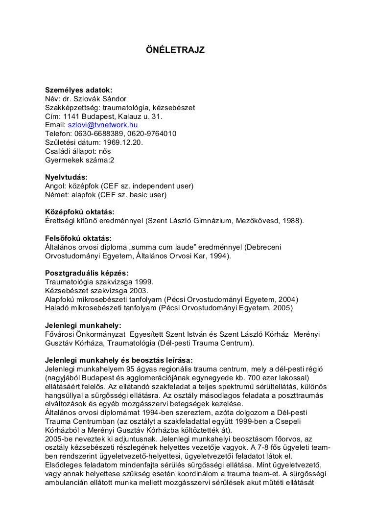 önéletrajz gyermekek száma CV (magyar) önéletrajz gyermekek száma