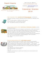 Newsletter Octobre 2014 Papoti-Papota