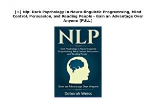 Neuro-Linguistic Skills & Techniques for Educators