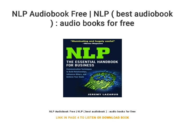 NLP Audiobook Free | NLP ( best audiobook ) : audio books ...