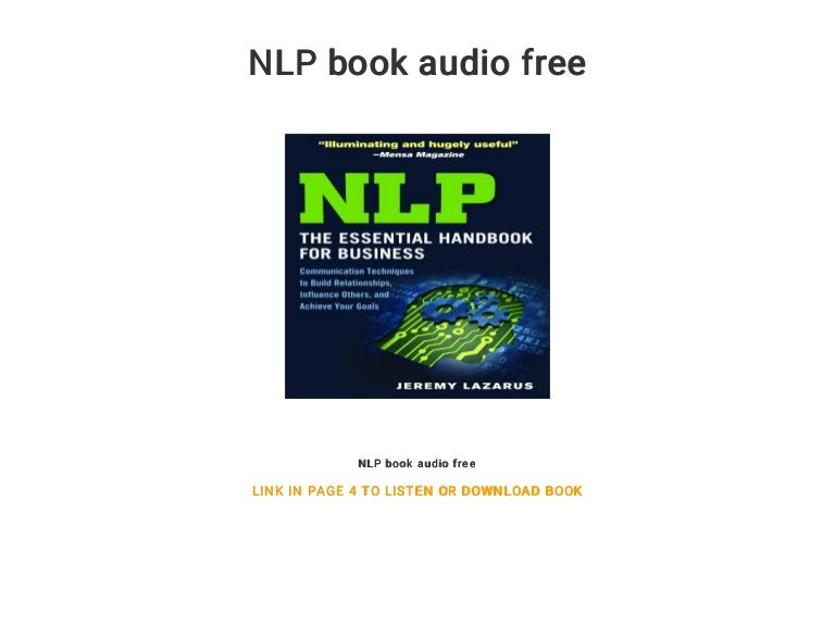 Pdf] download a practical guide to nlp turn negatives into.