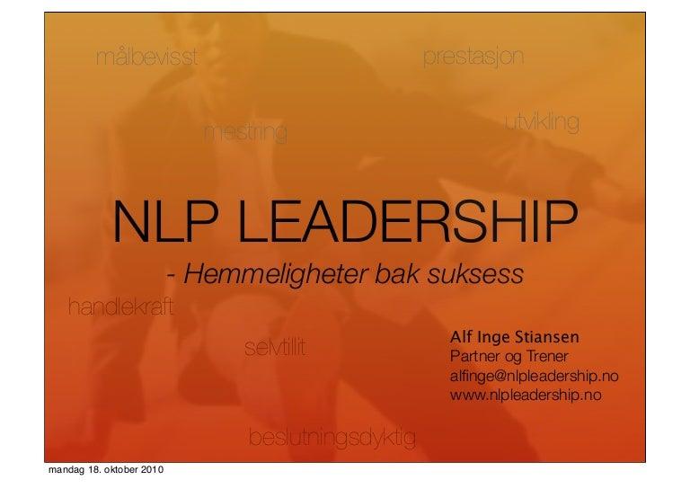 NLP Leadership: Hemmeligheten bak suksess