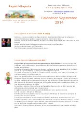 Newsletter septembre 2014