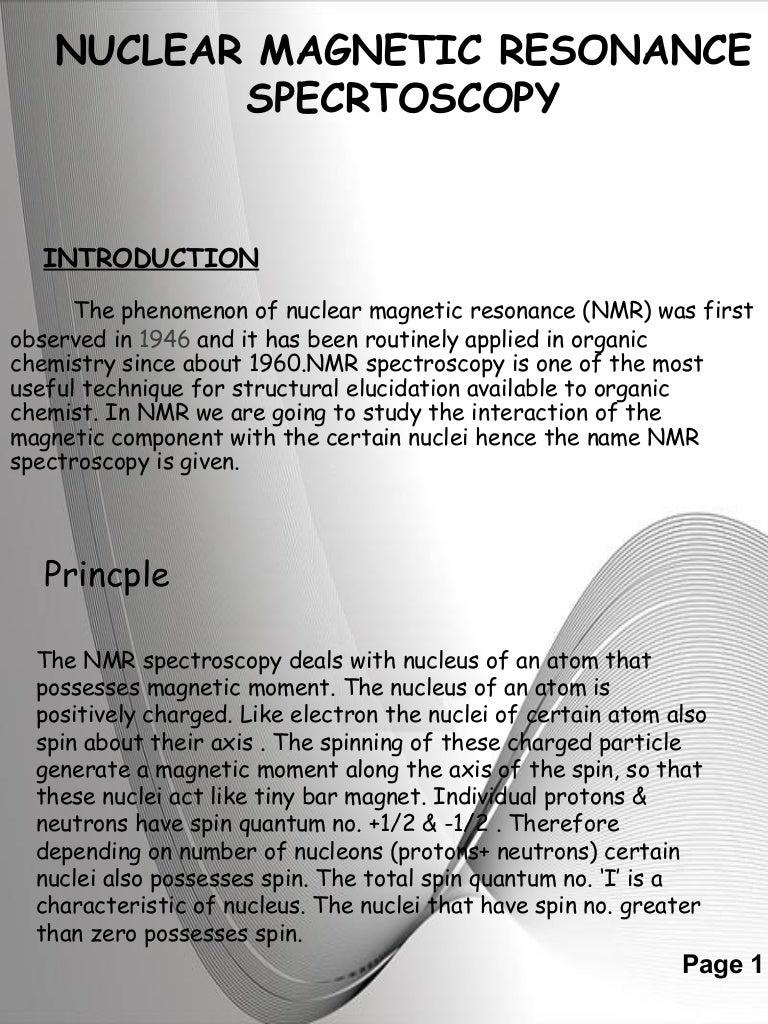 Nmr Theory