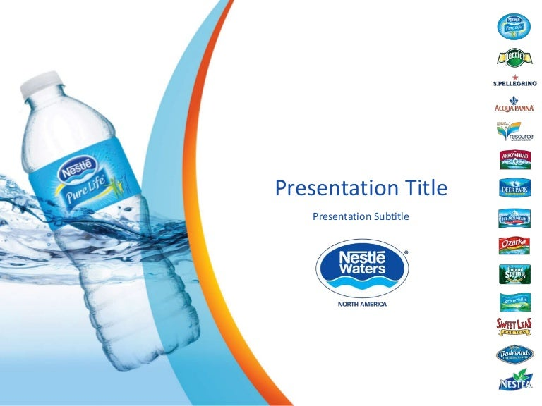 nestle waters retail leadership forum, Presentation templates
