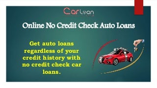 No Credit Check Car Loans - Qualifying Car Financing With No Credit Check