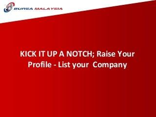 Presentation By Bursa Saham Malaysia Mr.