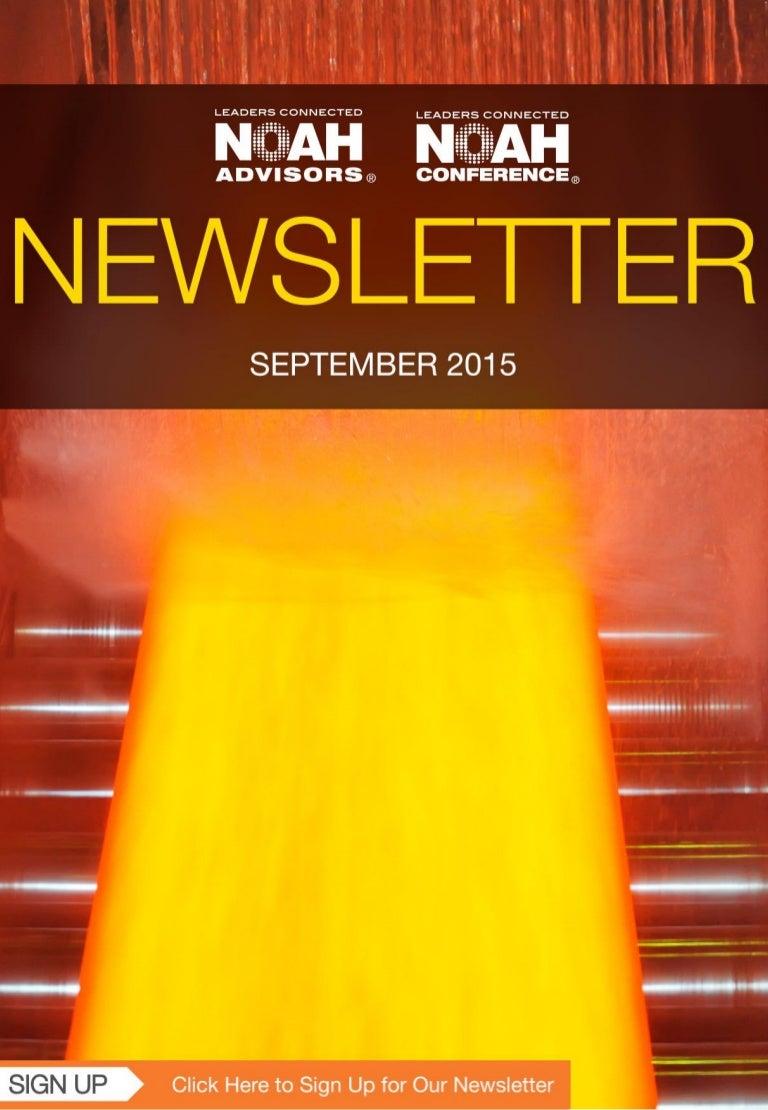 546912d2 NOAH Newsletter - Edition: September 2015