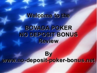 No Deposit Bovada Poker Bonus Review